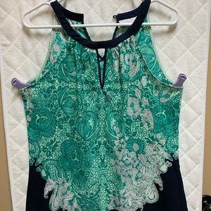 NY & Co green and Bleu Halter